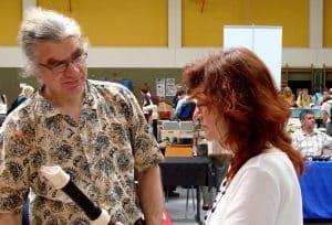 Anne Pape mit Tim Cranmore, Blockflötenbauer