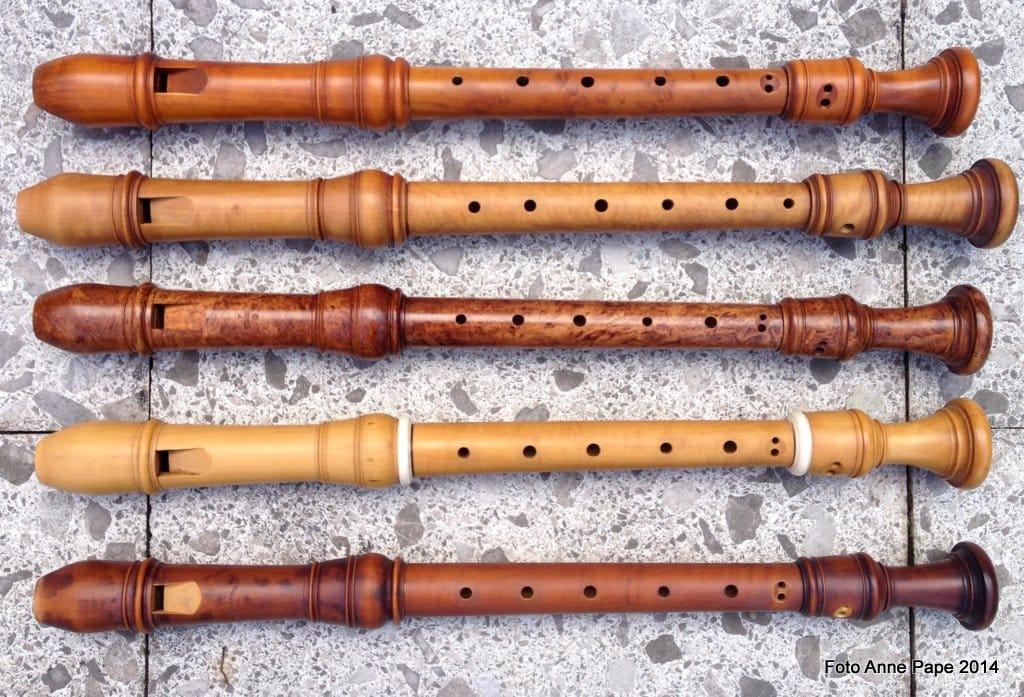 Altblockflöten gebaut von Cranmore, Ehlers, Melchers / Anne Pape