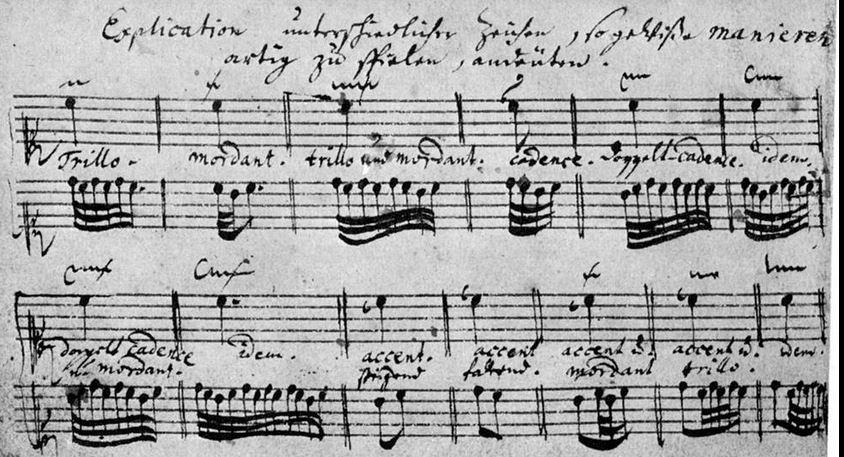 """J.S.Bachs Erläuterungen der Manieren im """"Clavierbüchlein für Friedemann"""", seinen Sohn."""