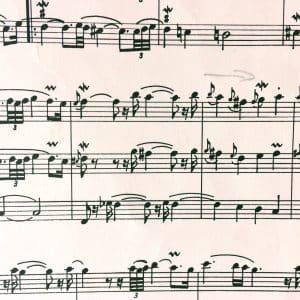 kleines Notenbeispiel aus Les Fauvétes Plaintives